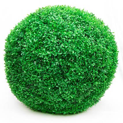 Искусственное растение куст, Самшит, зеленый, 48 см, пластик (960149)