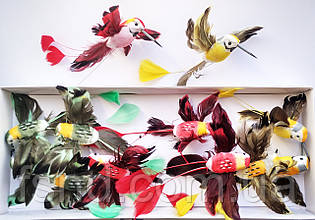 Птицы (12 см, 12шт) 5817