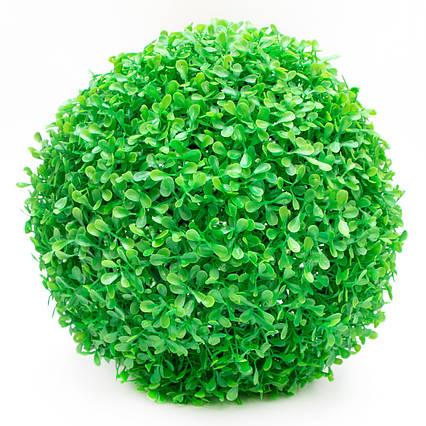 Искусственное растение куст, Самшит, зеленый, 28 см, пластик (960163)