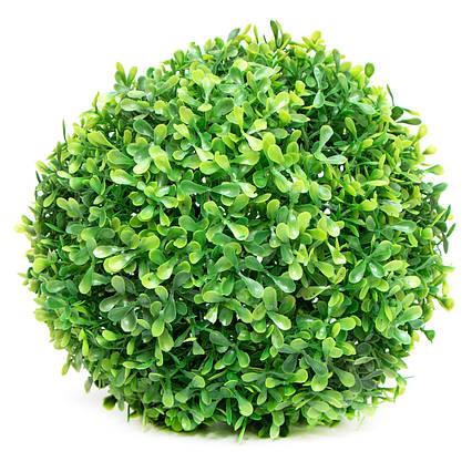 Искусственное растение куст, Самшит, зеленый, 23 см, пластик (960170)