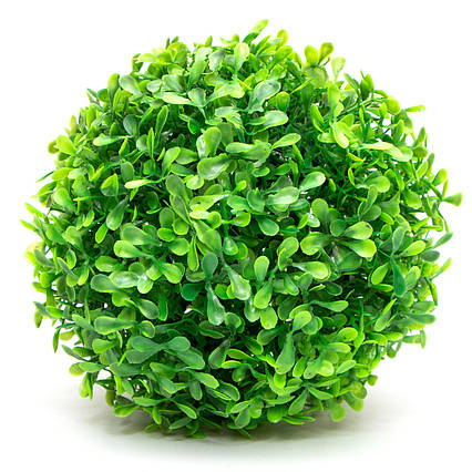 Искусственное растение куст, Самшит, зеленый, 18 см, пластик (960187)