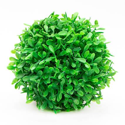 Искусственное растение куст, Самшит, зеленый, 13 см, пластик (960194)