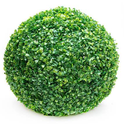 Искусственное растение куст, Самшит, темно-зеленый, 58 см, пластик (960255)