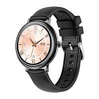 Умные часы женские Max Robotics Ladies Smart watch CF-80 металлический + силиконовый ремешок Black