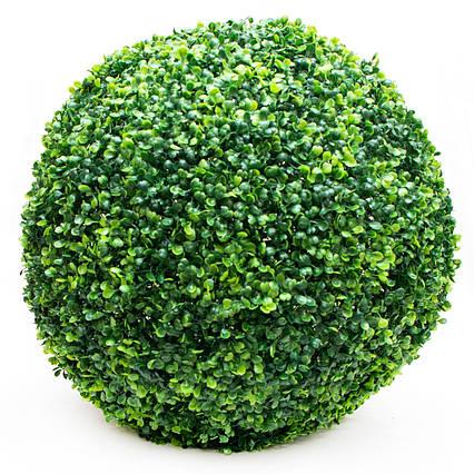 Искусственное растение куст, Самшит, темно-зеленый, 48 см, пластик (960262)