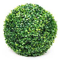 Искусственное растение куст, Самшит, темно-зеленый, 38 см, пластик (960279)
