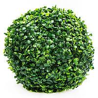 Искусственное растение куст, Самшит, темно-зеленый, 28 см, пластик (960286)