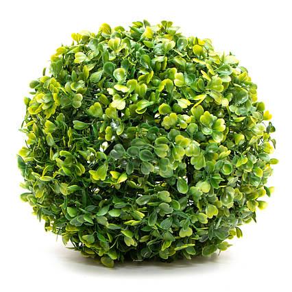 Искусственное растение куст, Самшит, темно-зеленый, 23 см, пластик (960293)