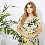 Женское платье батал, евро софт, р-р 50; 52; 54; 56 (жёлтый), фото 2