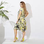 Женское платье батал, евро софт, р-р 50; 52; 54; 56 (жёлтый), фото 3