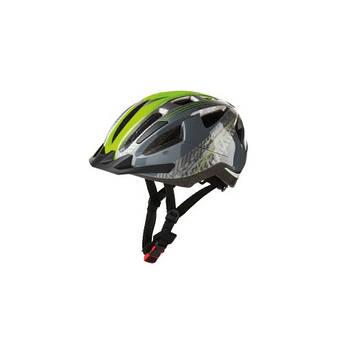 Дитячий велосипедний шолом CRIVIT XS (49-54) сіро-зелений