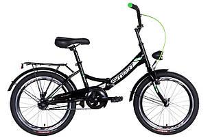 """Велосипед 20"""" Formula SMART з ліхтарем 2021 (чорно-зелений )"""