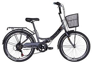 """Велосипед 24"""" Formula SMART з кошиком, трещітка 2021 (малахітовий)"""