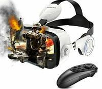 Шлем 3D очки виртуальной реальности с пультом для смартфона VR BOX Bobo Z4 PRO виар очки с наушниками SPG