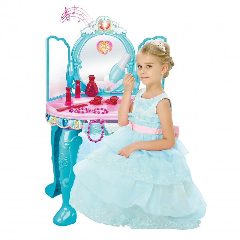 Туалетный столик со стульчиком голубой с MP3 Woopie 30135