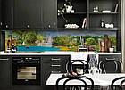 Скинали на кухню Zatarga «Рай на Земле» 650х2500 мм виниловая 3Д наклейка кухонный фартук самоклеящаяся, фото 6