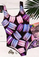 Женский сдельный купальник-макарон, стильные женские купальники.