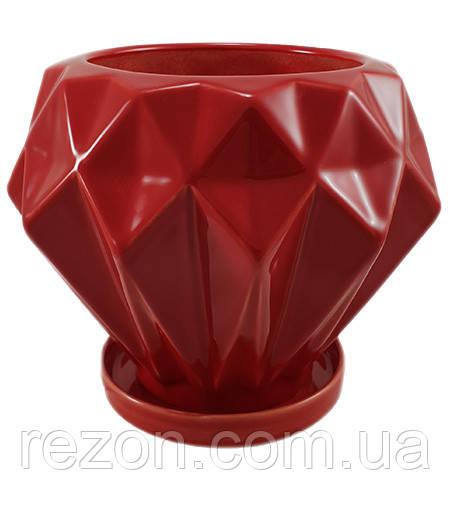 """Горшок керамический для цветов  """"Блават"""" Rezon  1,2л P283"""