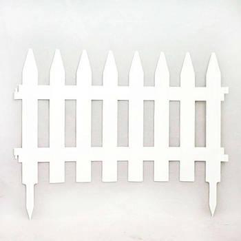 Садовая оградка белый 46*36 см