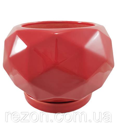 """Горшок керамический для цветов """"Вітряниця"""" 0,9л Rezon P280"""