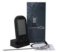 Безпровідний цифровий термометр зі щупом і таймером чорний