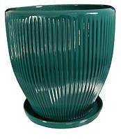 """Горшок керамический для цветов """"Гофре"""" 11.5л Rezon P261"""
