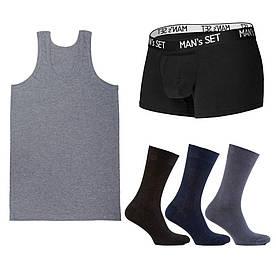 Комплект анатомических боксеров, майки и носков SHIRT SET Medium