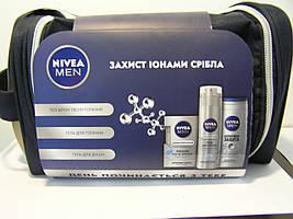 Набoр мужской Nivea сумка 3 (Лосьон после бритья 100 мл.+гель для бритья 200 мл.+ гель для душа)