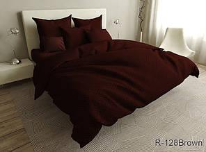 Двухспальный комплект постельного белья ранфорс ТМ TAG R128Brown