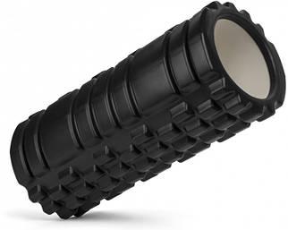 Массажный роллер Foam Roller Черный