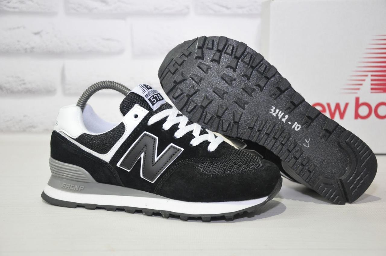 Кросівки чорні натуральний замш і текстиль New Balance 574