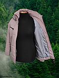 Стильна жіноча демісезонна коротка куртка SK-28, пудра, фото 4