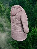 Стильна жіноча демісезонна коротка куртка SK-28, пудра, фото 3