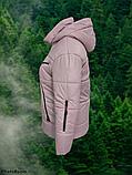 Стильна жіноча демісезонна коротка куртка SK-28, пудра, фото 5