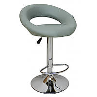 Барный стул для барной стойки хокер с спинкой на кухню кресло барное высокое Hoker экокожа Bonro B 650 серый
