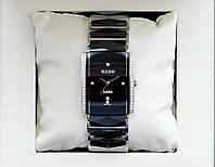 Rado Jubile Silver Diamond Classic AAA кварцевые наручные часы на керамическом браслете и календарем даты