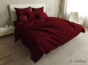 Двухспальный комплект постельного белья ранфорс ТМ TAG  R129Red