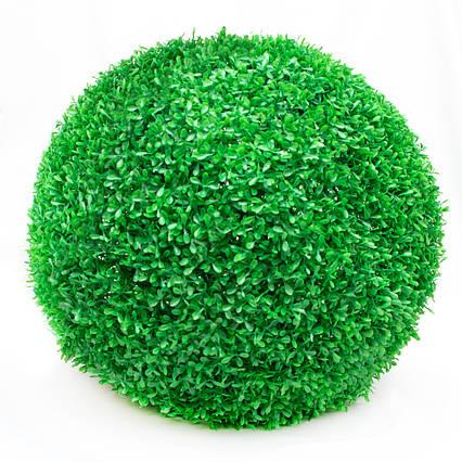 Искусственное растение куст, Самшит, зеленый, 58 см, пластик (960132)