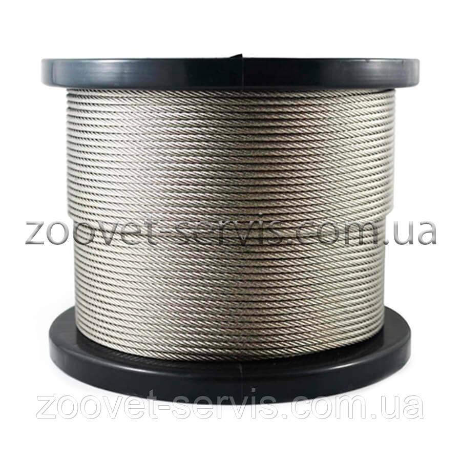 Трос сталевий в обплетенні 5 мм (4+1) DIN 3055
