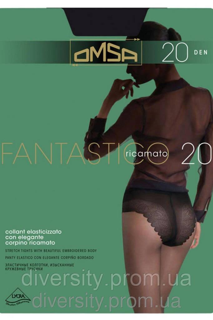 Классические колготки Fantastico 20 den - ажурные трусики,ластовица