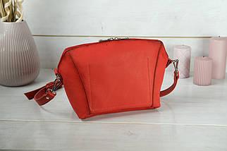 Сумка жіноча. Шкіряна сумочка Майя, Шкіра Італійський краст, колір Червоний, фото 2