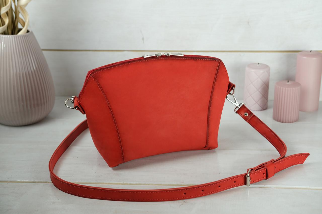 Сумка жіноча. Шкіряна сумочка Майя, Шкіра Італійський краст, колір Червоний