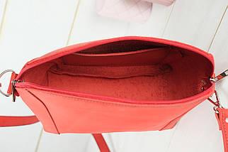Сумка жіноча. Шкіряна сумочка Майя, Шкіра Італійський краст, колір Червоний, фото 3