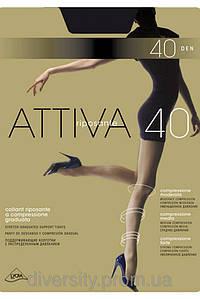 Классические колготки Attiva 40 den -шортики,ластовица