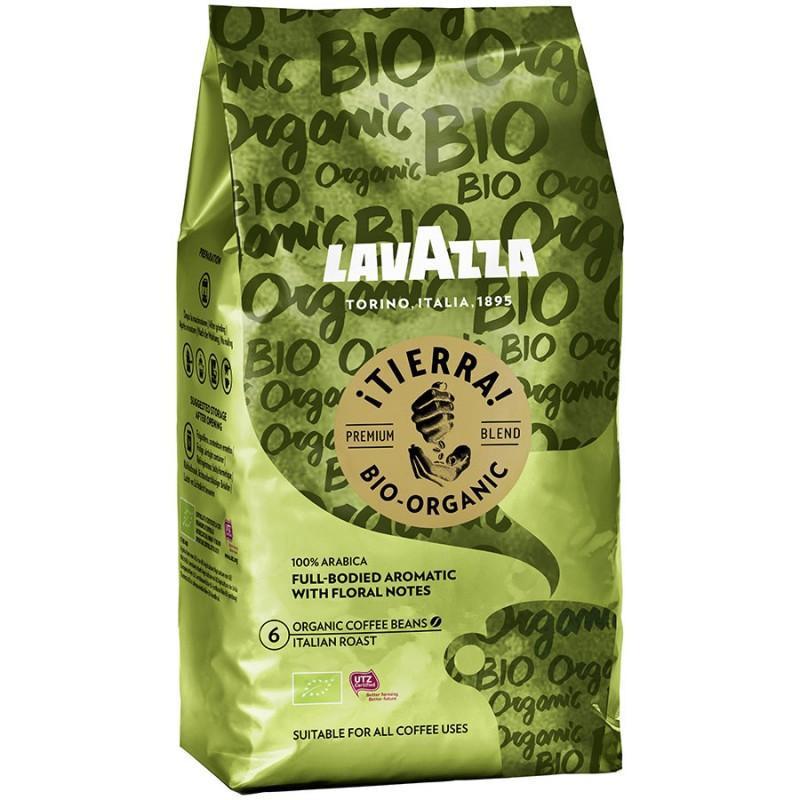 Кофе в зернах Лавацца Тиерра Lavazza TIERRA Bio Organic PROFESSIONAL зерно 1 кг салатовый