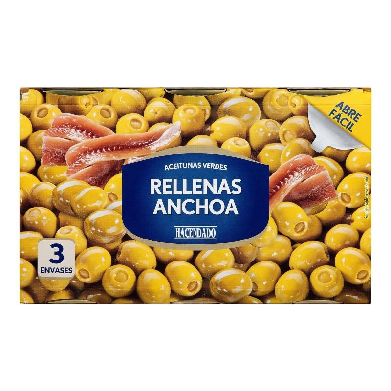 Оливки з анчоусами Hacendado ж/б банку 350 г