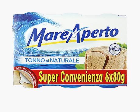 Тунец в собственном соку Mare Aperto Natural 6х80 г