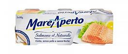 Филе лосося в собственном соку Mare Aperto Natural упаковка 3х80 г