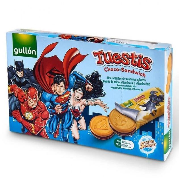 Печиво з шоколадним кремом Gullon Tuestis Choco-sandwich superheroes ліга справедливості 315 г