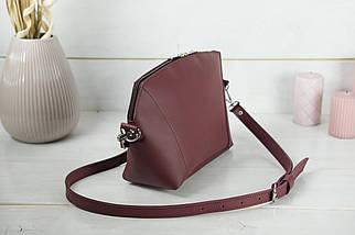 Сумка жіноча. Шкіряна сумочка Майя, шкіра Grand, колір Бордо, фото 2